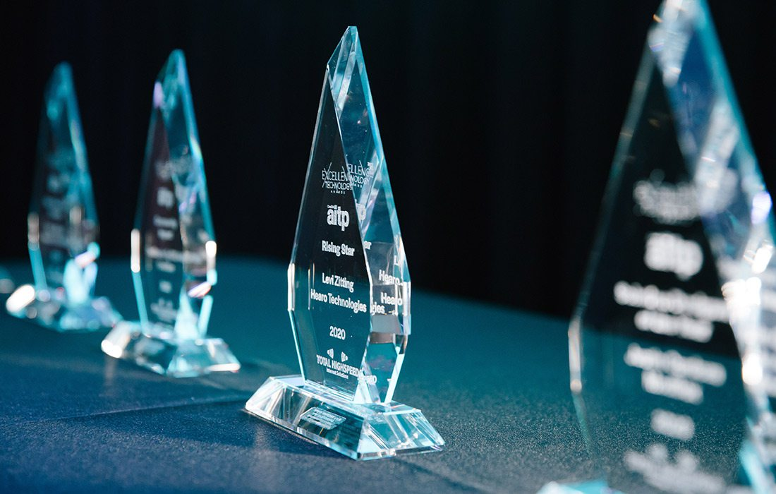 Excellence in Technology trophies