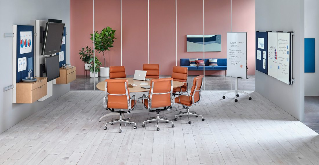 Exclave by Herman Miller with office plants