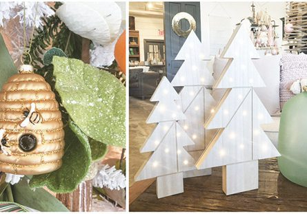 Beehive ornament and model Christmas trees