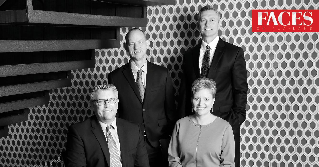 Drew Spencer, Chris Sweet, Josh Hartman and Jill Reynolds of Commerce Trust Company in Springfield MO
