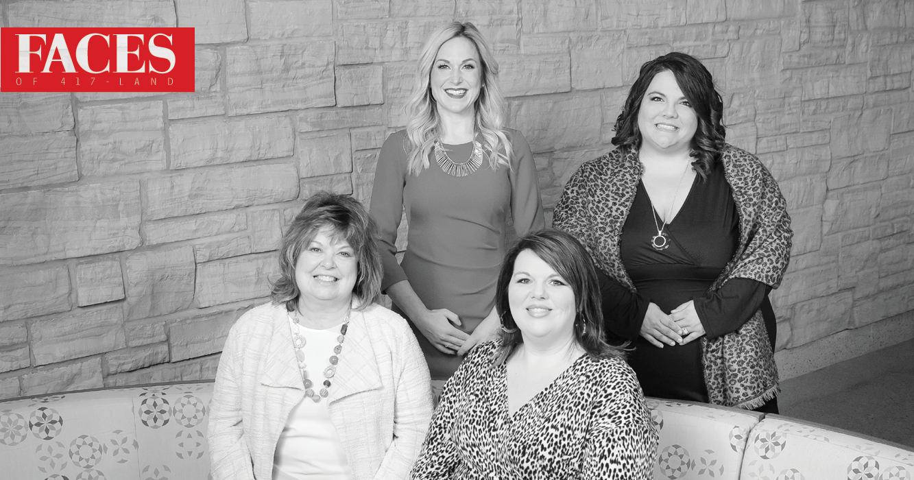 Debbie Cain, Shallina Goodnight, Kim Sisk and Grace Greninger of CoxHealth at Home in Springfield MO