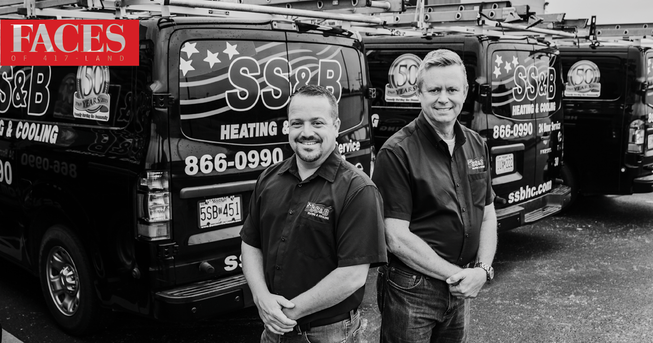 Jeremy Grisham, Brad Searcy with SS&B Heating & Cooling