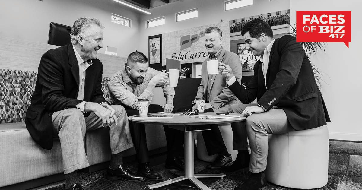 Phil Peck, VP Business Services; Mike Farrar, VP Business Lending; Steve Hamm, Business Lending Manager; Kyle Short, Director Business Services of BluCurrent Credit Union in Springfield MO
