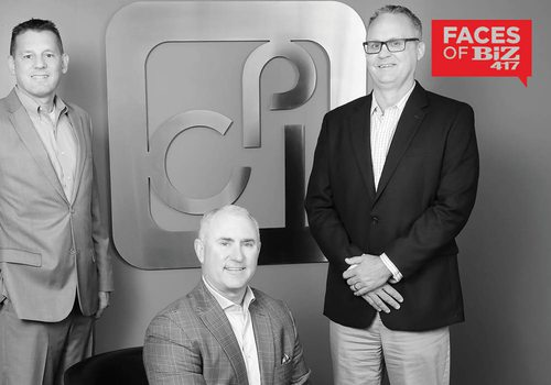 Rob Kassing, VP of Sales; Erik Crane, CEO/President; Greg Gurke, VP of Service at CPI Technologies in Springfield MO