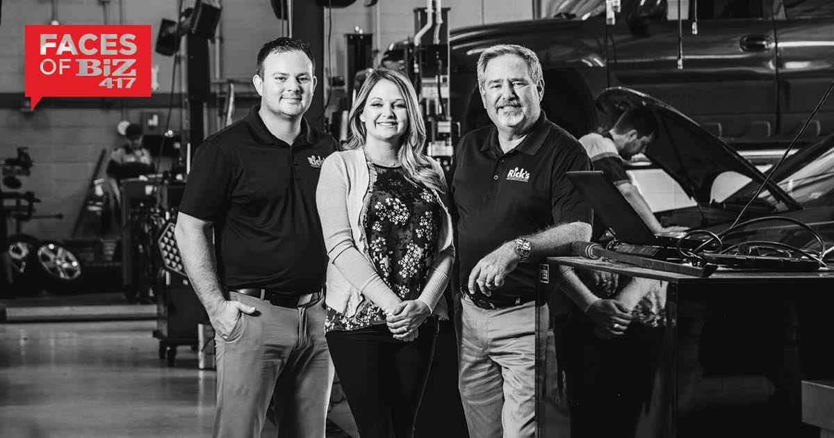 Travis Comfort, Kala Comfort, Rick Hughlett of Rick's Automotive