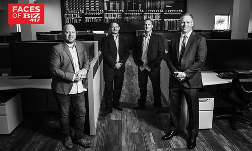 Chris Huels, Chief Service Officer; Thomas H. Douglas, President and CEO; Brad Prost, Account Executive; Jeff Bendure, Director of Account Management of JMARK Business Solutions Inc. in Springfield MO