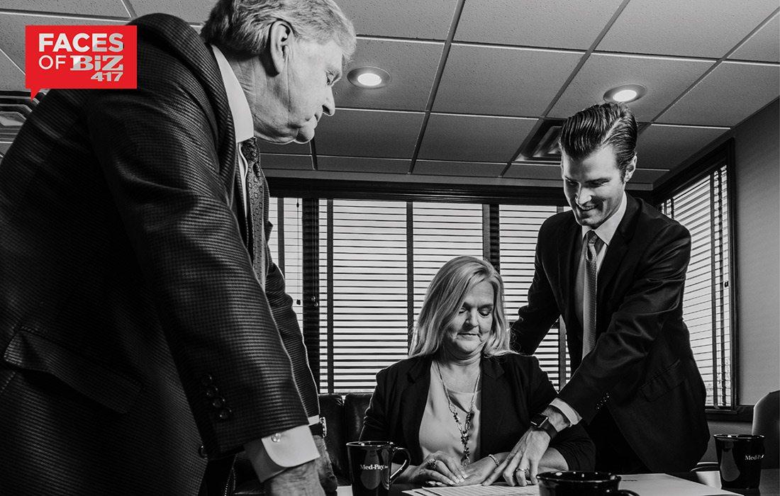 Gordon Kinne, Pam Mathis, Marshall Kinne of Med-Pay Inc in Springfield MO