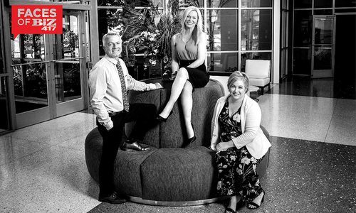 John Blansit, Missy Handyside-Chambers and Sarah DeGuire of Oasis Hotel and Convention Center in Springfield MO