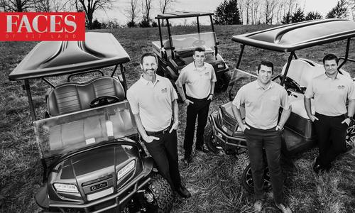 Brian Cheever, Lane Reppond, Justin Fraker, Dakota Prewitt of Clear Creek Golf Car
