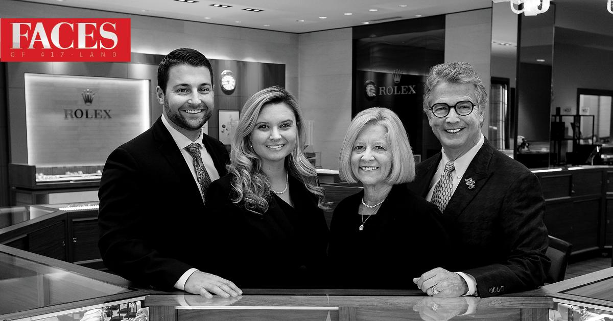 Ryan Olson, Jessica Harmison-Olson, Jane and Rick McElvaine of Maxon's Fine Jewelry in Springfield MO