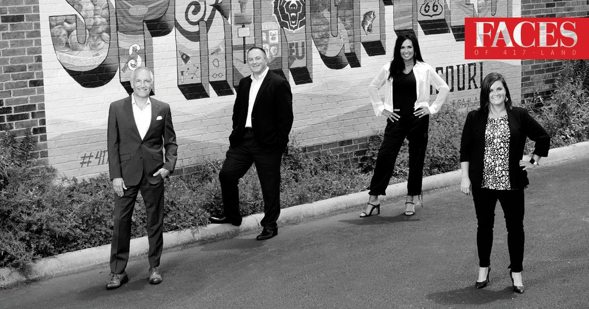 Mark Harrington, Ryan Sutherland, Connie Gold, Jessica Sims of Old Missouri Bank OMB Springfield MO