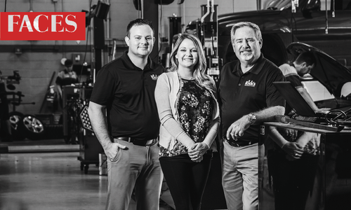 Travis Comfort, Kala Comfort, Rick Hughlett of Rick's Automotive in Springfield MO