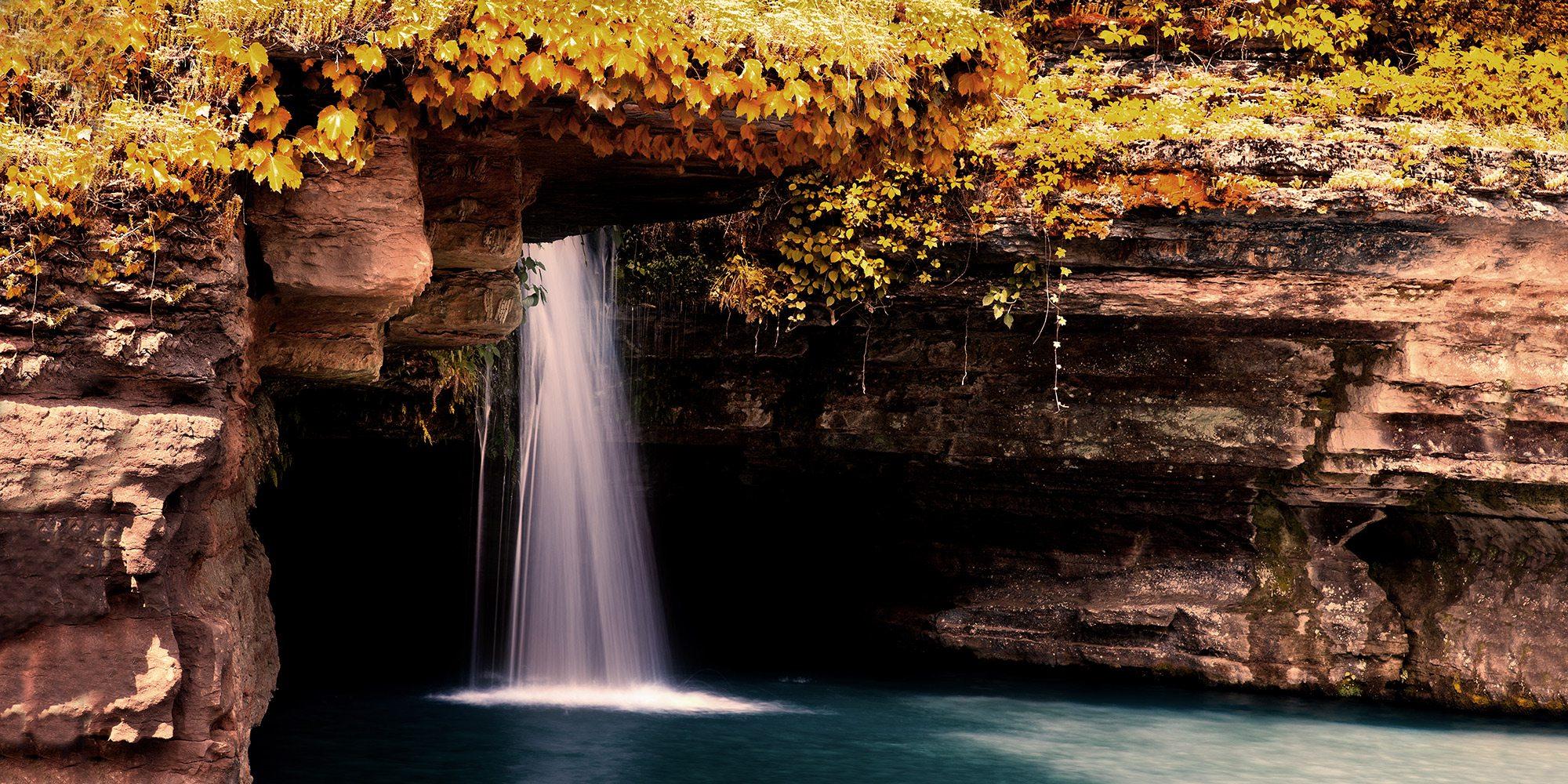 Glory Hole Waterfall at Dogwood Canyon in Missouri