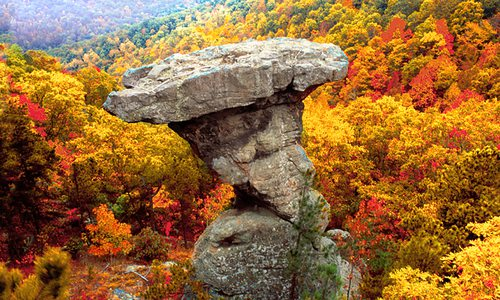 Pedestal Rocks in the Ozarks