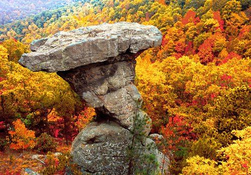 Pedestal Rocks in the Ozarks