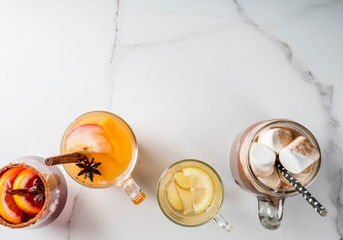 A collection of fall cocktails