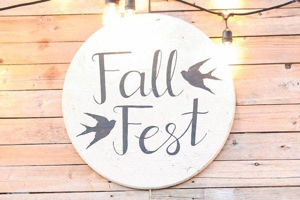 Fall Fest sign at High Street Church