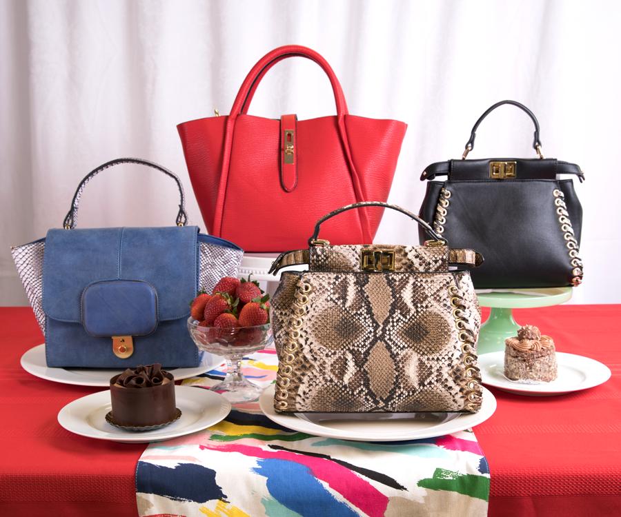 Handbags from Wickman's Garden Village and cakes from European Café.