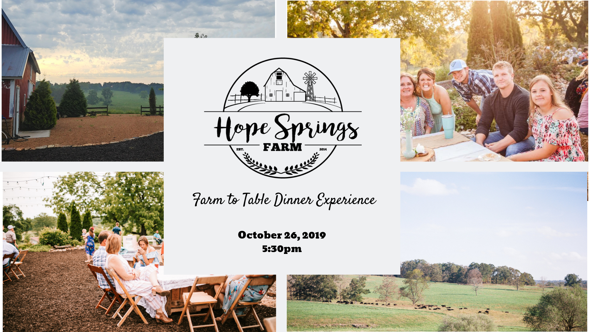 Farm to Table Dinner Experience image