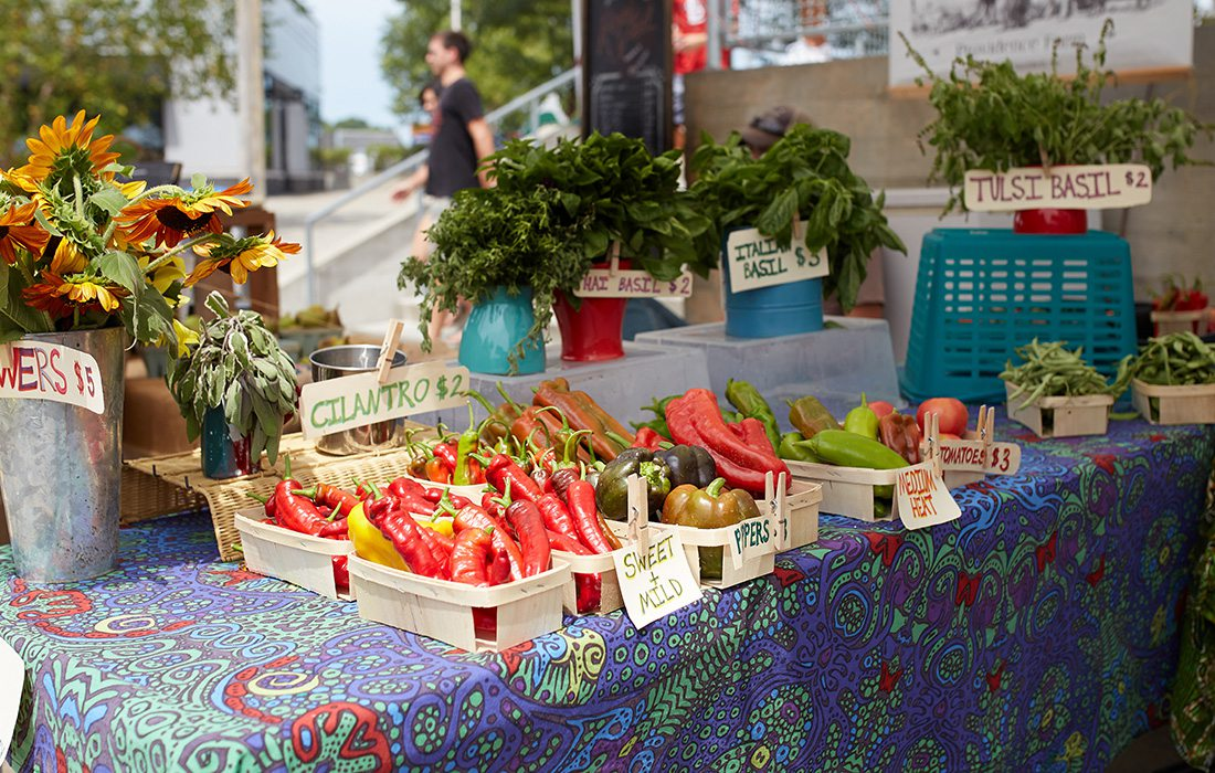 Farm stand at Farmer's Market of the Ozarks in Springfield MO