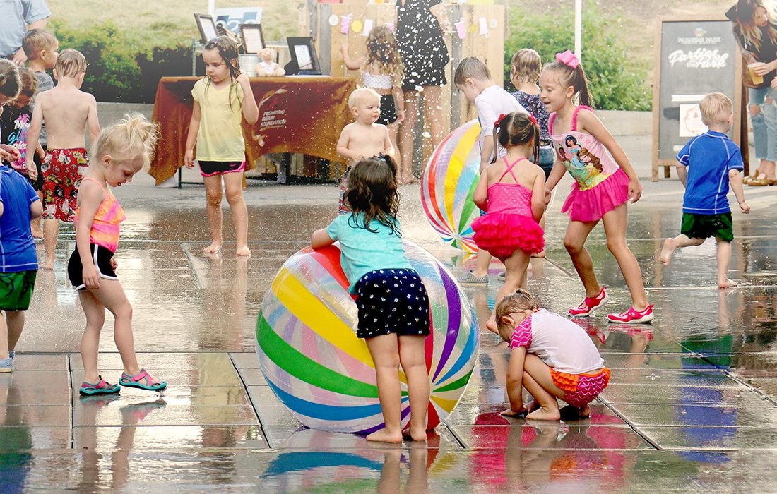 Farmers Market of the Ozarks Splash Fountain in Springfield MO