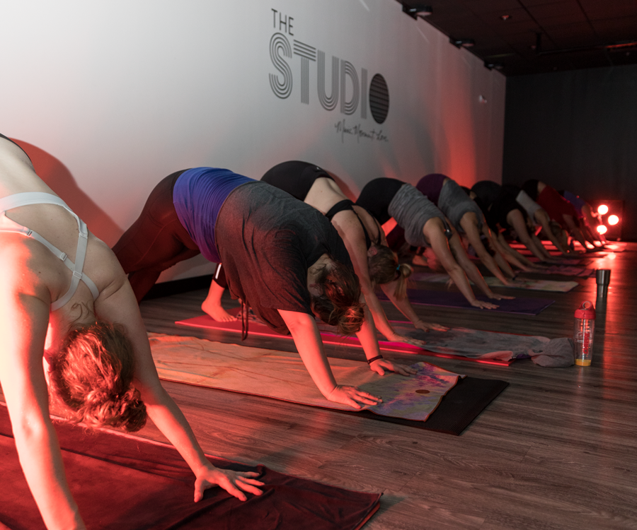 Senior Editor Savannah Waszczuk at The Studio's inFLOWred Yoga.