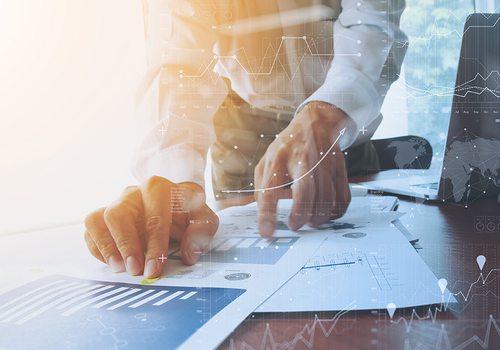 financial advisor stock image