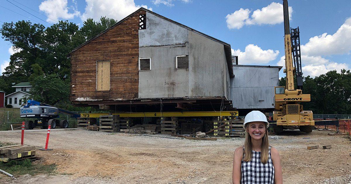 Megan Morris at the Ozark Mill