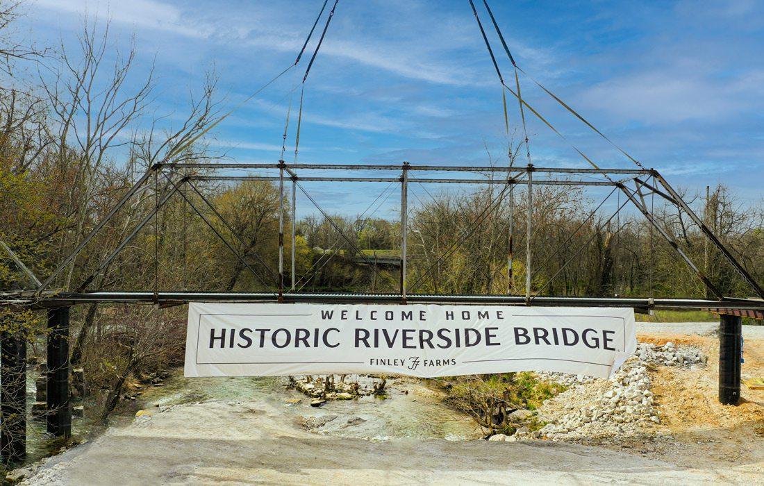 Restored bridge at Finley Farms