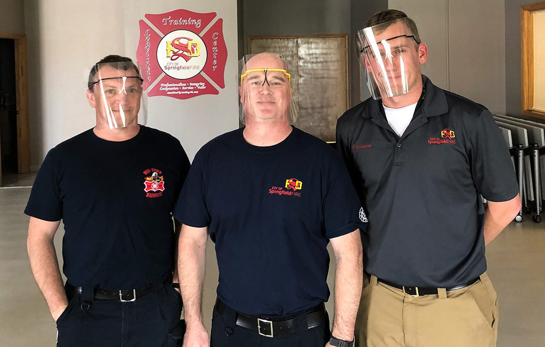 Springfield MO Firefighters with PPE