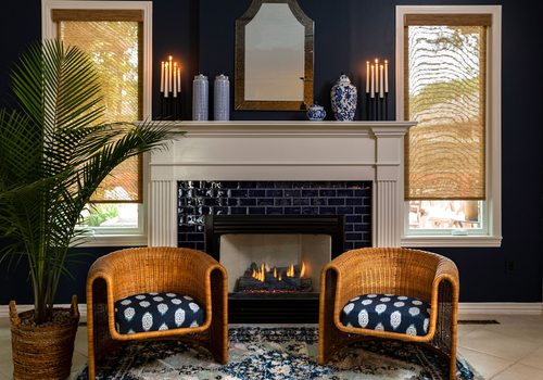 Heather Kane's remodeled fireplace