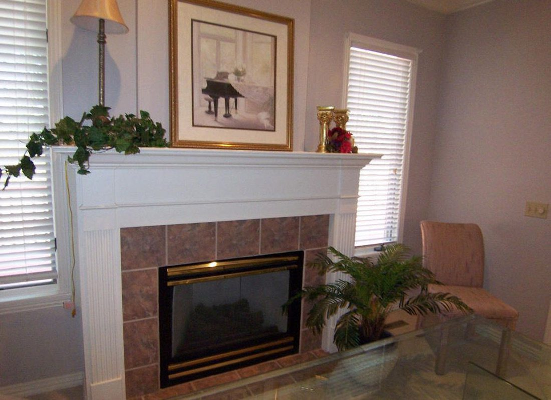 Heather Kane's fireplace before remodel