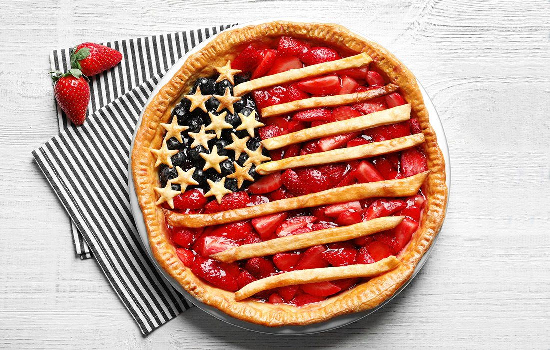4th of July Berry Pie