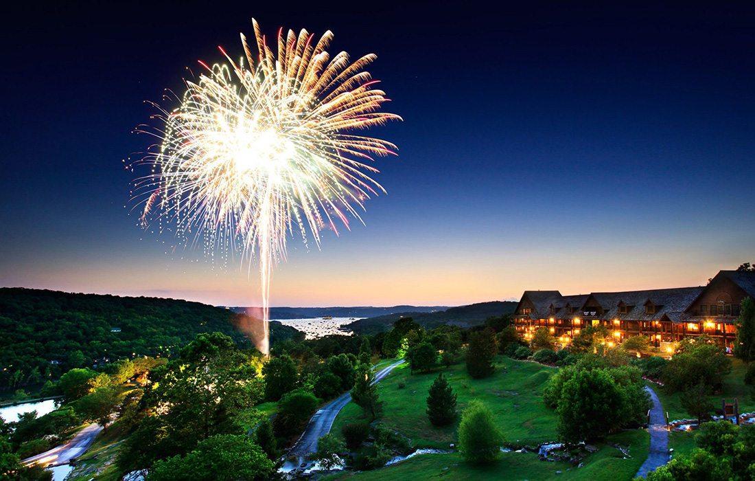 Fireworks at Big Cedar Lodge in Branson MO