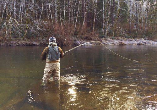 Fishing in the Winter near Springfield MO