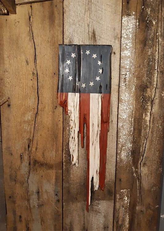 Wooden Flag Made by Kristine Grippo in Springfield, MO