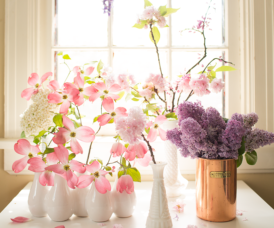 Add some color to your room with flowers.