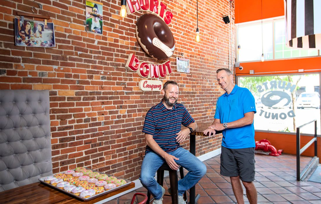 Tim Clegg and Scott Bussard of Hurts Donut Co.
