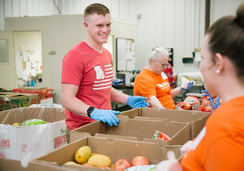 Senior Landon Rodgers serves the Springfield, MO community by providing more than 30,000 meals to those in need.
