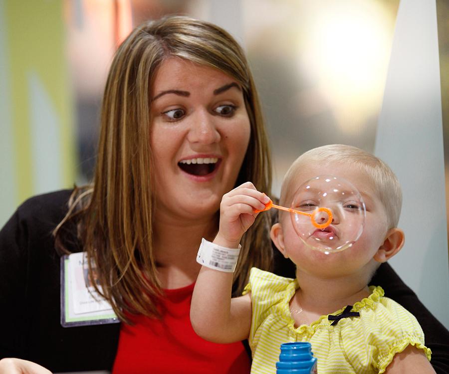 Child life specialist Kristi Donovan.