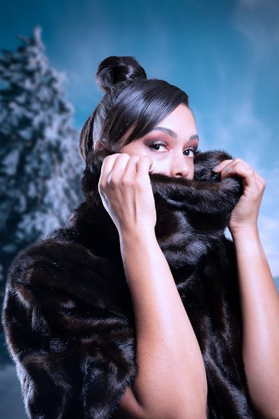 Christina Ford fox fur photoshoot