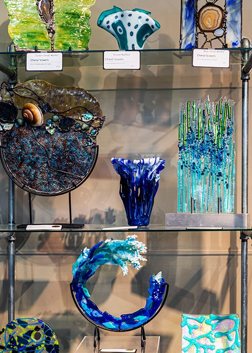 Handblown glass by Cheryl Vowels at Fresh Gallery Springfield MO