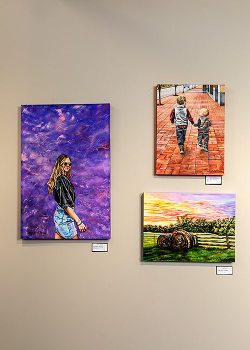 Paintings by Leigh Ann Thomas at Fresh Gallery Springfield MO