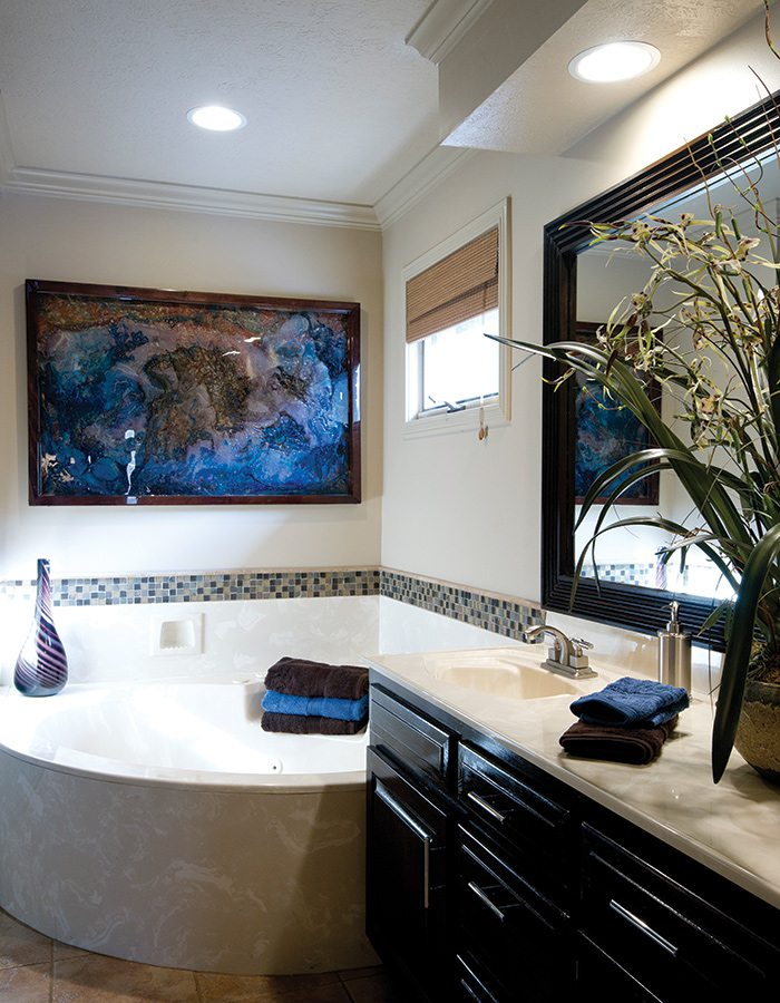 Freshen up your bathroom with mosaic tiles