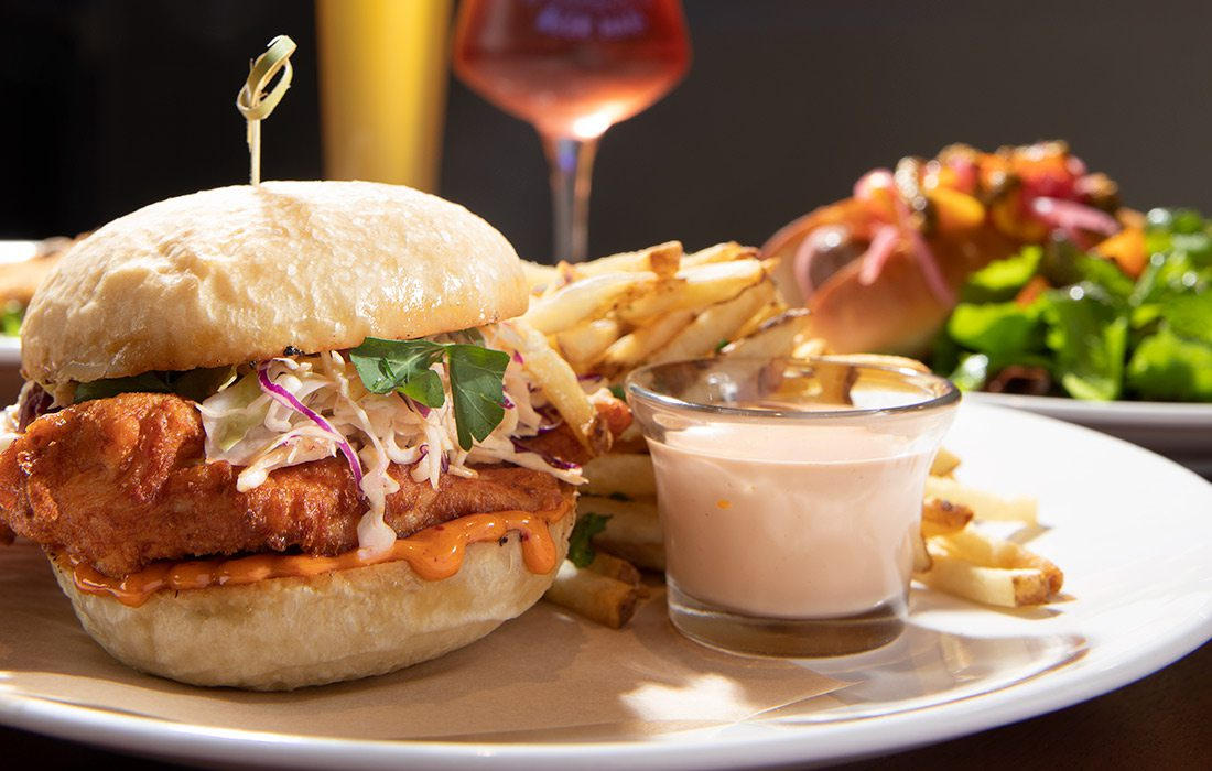 Fried chicken sandwich at Best of Luck Beer Hall in Springfield MO