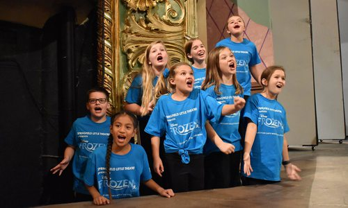 Rehearsals for Frozen Jr. at Springfield Little Theatre