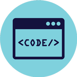 coding on a browser illustration