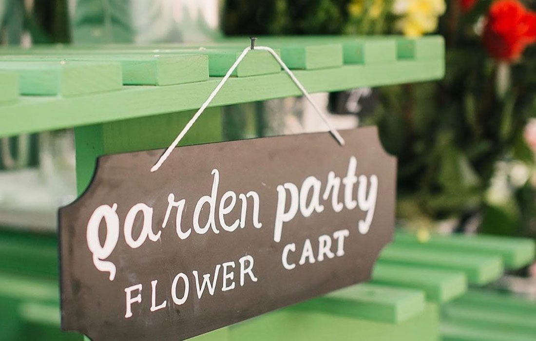 Garden Party Flower Cart