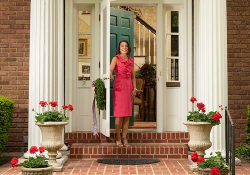Gail Smart outside her beautiful home in Springfield, MO