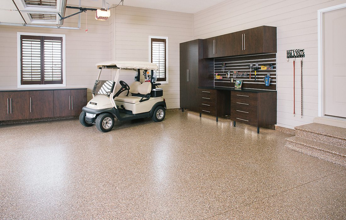 Golf cart in a garage by Garage Experts in southwest MO